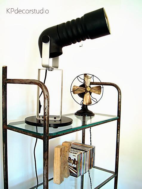 Lámparas originales estilo retro, vintage, de diseño raro, tubular, lamparas de escritorio y de sobremesa