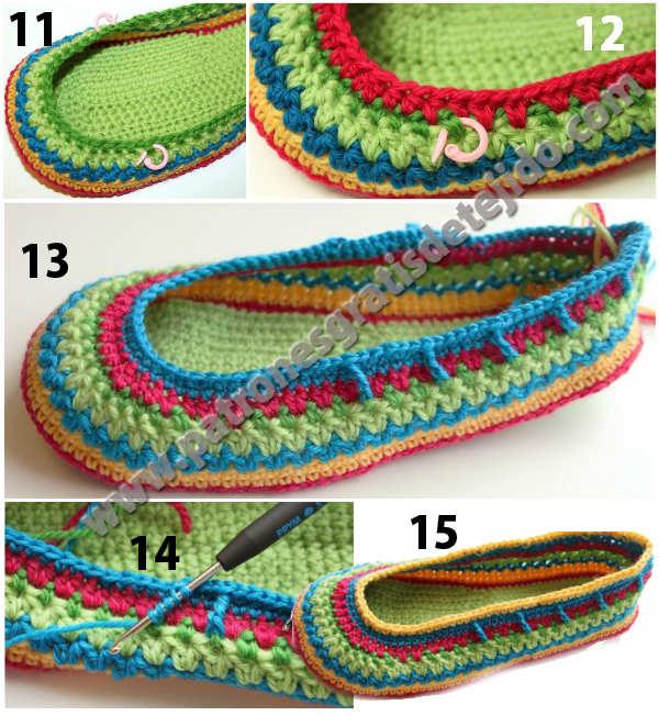 calzado tejido paso a paso