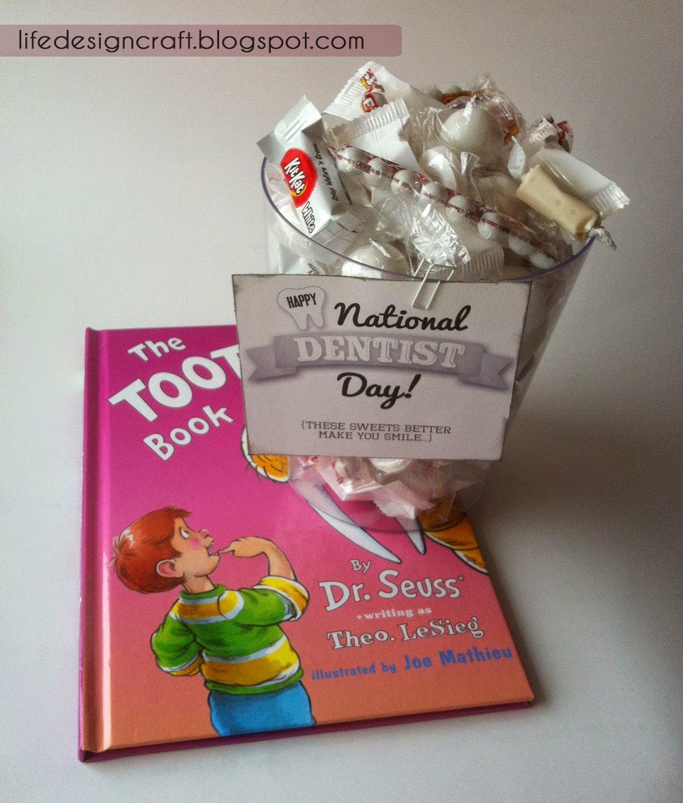 National Dentist Day Gift - especially for the daddy dentists & adaptable for any dentist! [includes free tag printable]