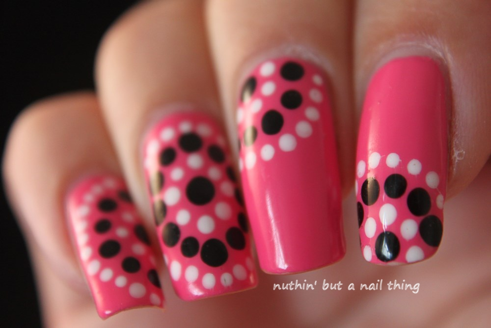 Nuthin But A Nail Thing Models Own Gumballs Polka Dot Nail Art