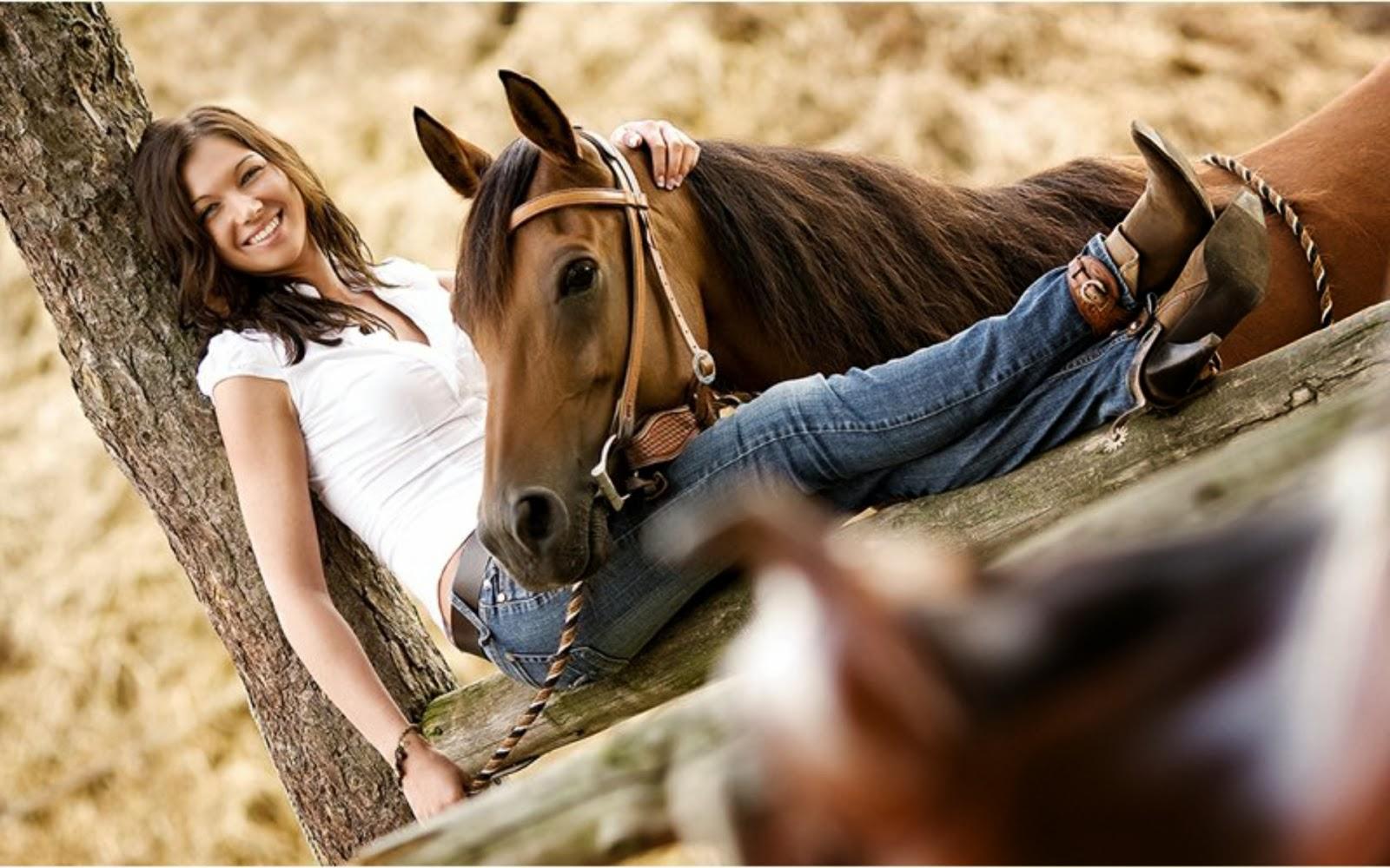Vaquera y su caballo