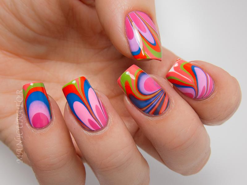 Zoya-Tickled-Watermarble-Nail-Art