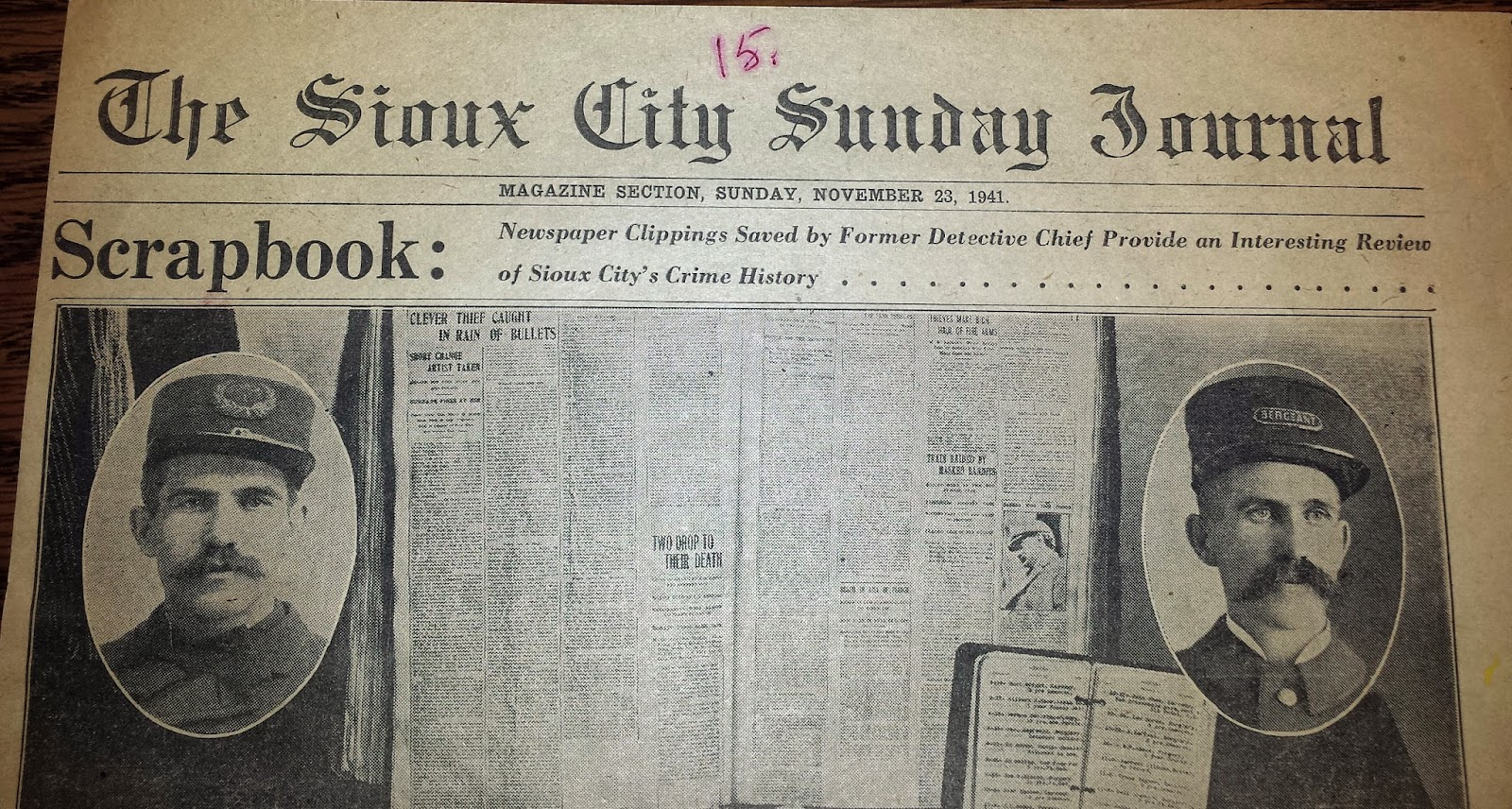 How to scrapbook newspaper - Former Detective Chief Kept Newspaper Clippings Of Sioux City S Crime History