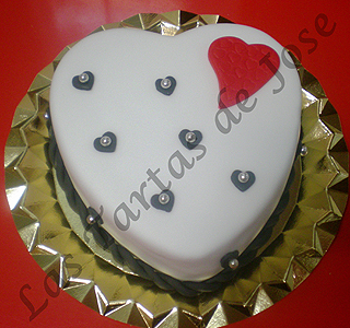 Tarta corazón de San Valentín. Las Tartas de Jose. Castellón.