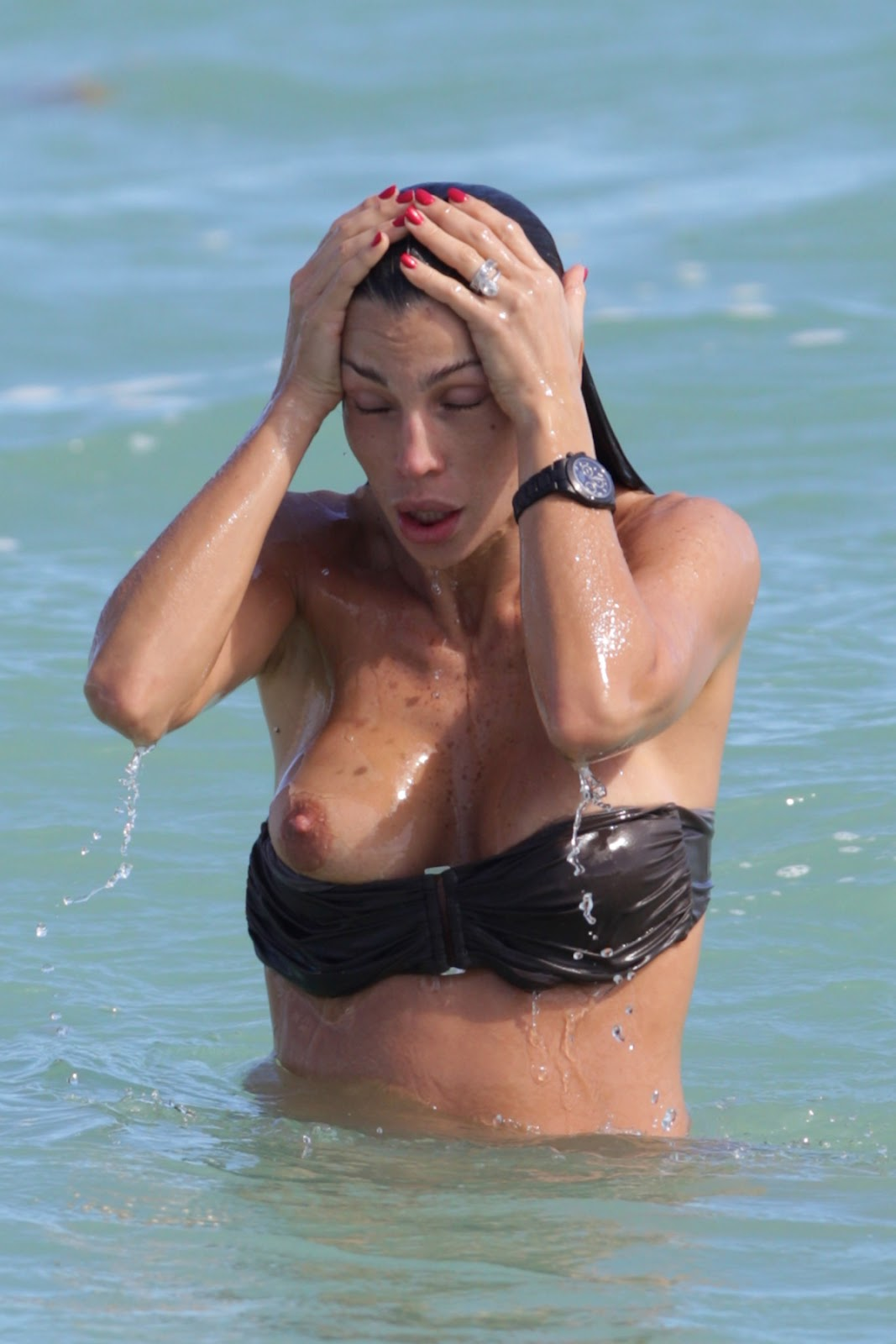 Claudia Galanti Bikini Double Boob Slip And Nipple Slip Again And Again In ...