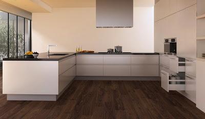 D nde economizar en la reforma de una cocina - Suelo madera cocina ...