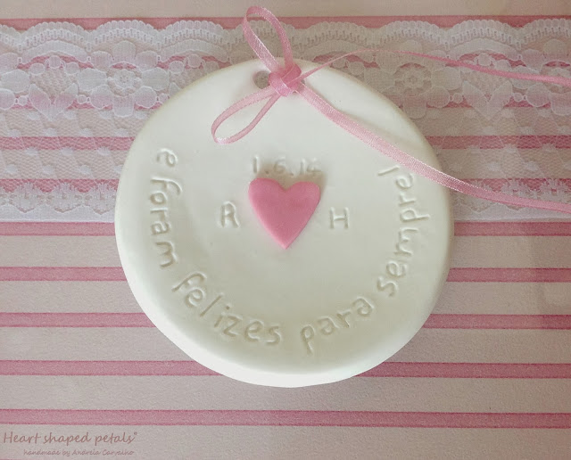 Ring bearer dish initials of bride and groom