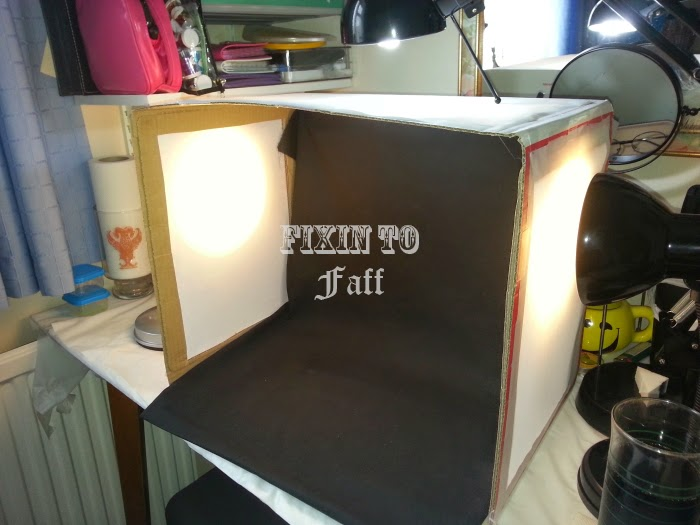 homemade diy light tent box
