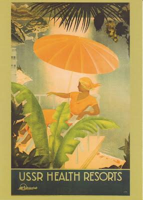 1930 Cartel Soviético de Turismo Vintage, Balnearios en la URSS