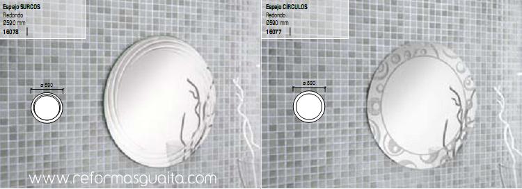 Espejo circular para el ba o o aseo reformas guaita for Espejos circulares pared