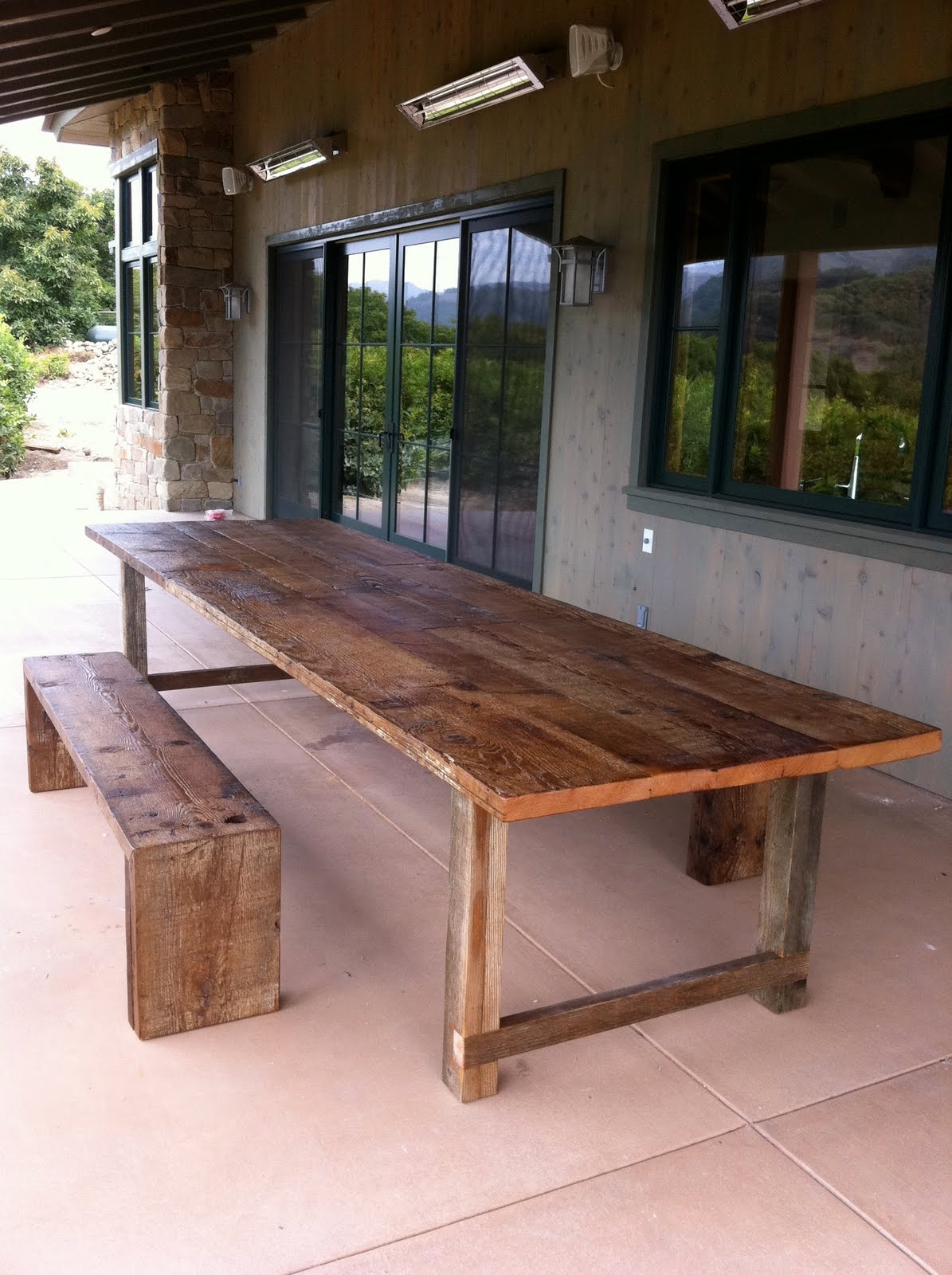 Beau Arbor Exchange Reclaimed Wood Furniture Twelve Foot Dining Table