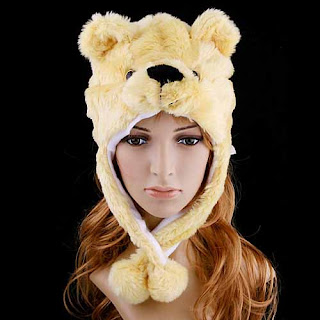 Plush bear hats