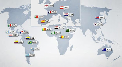 mapa selecciones sub 20 colombia 2011