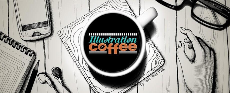 Illustration and coffee