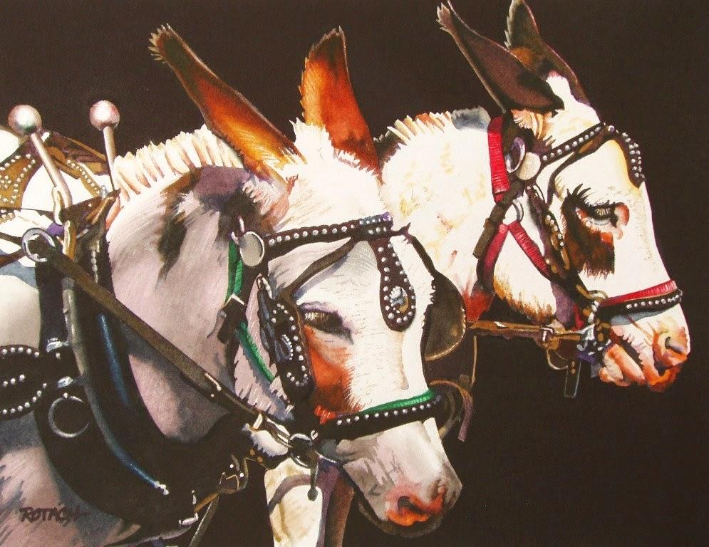 caballos-pinturas-en-acuarela