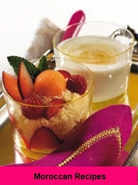 Moroccan Recipes: Couscous with fruit and yogurt with honey lemon