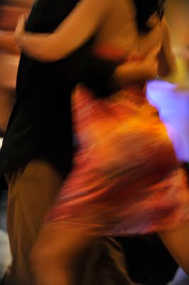 Tango dancing in Buenos Aires.