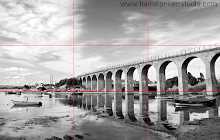 Railway Bridge in Scotland showing the optimum composition lines.
