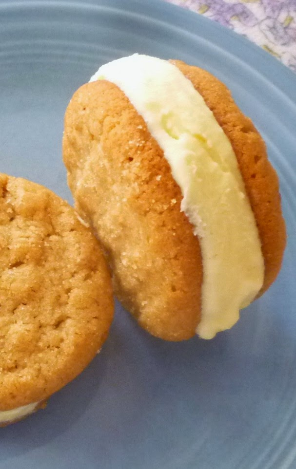 For Love of the Table: Peanut Butter & Honey Ice Cream Sandwiches