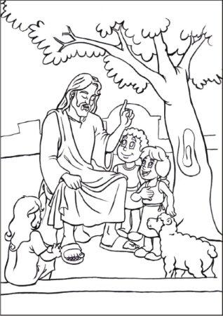 desenhos de jesus e as crianças para colorir desenhos para colorir