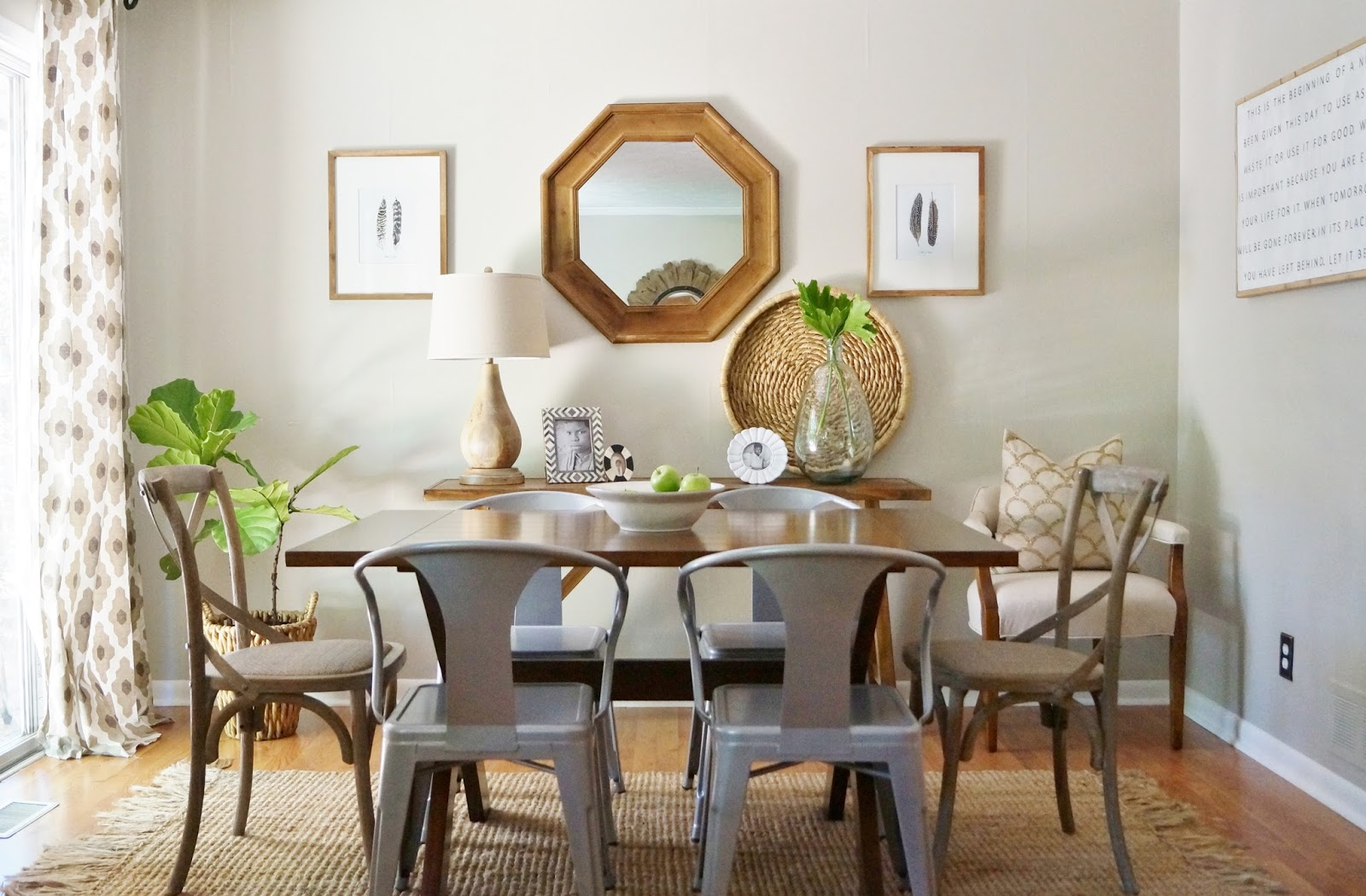 My Neutral Dining Room