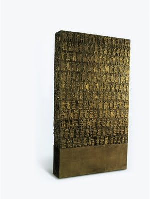Parviz Tanavoli. The Wall - Oh, Persepolis, 1975. 181 X 102 X 23 cm.