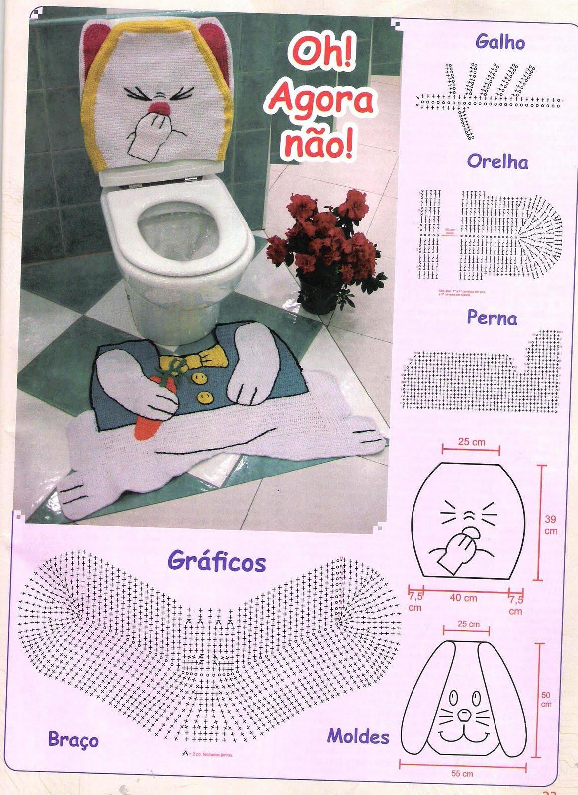 Схема вязания коврика в туалет крючком схемы