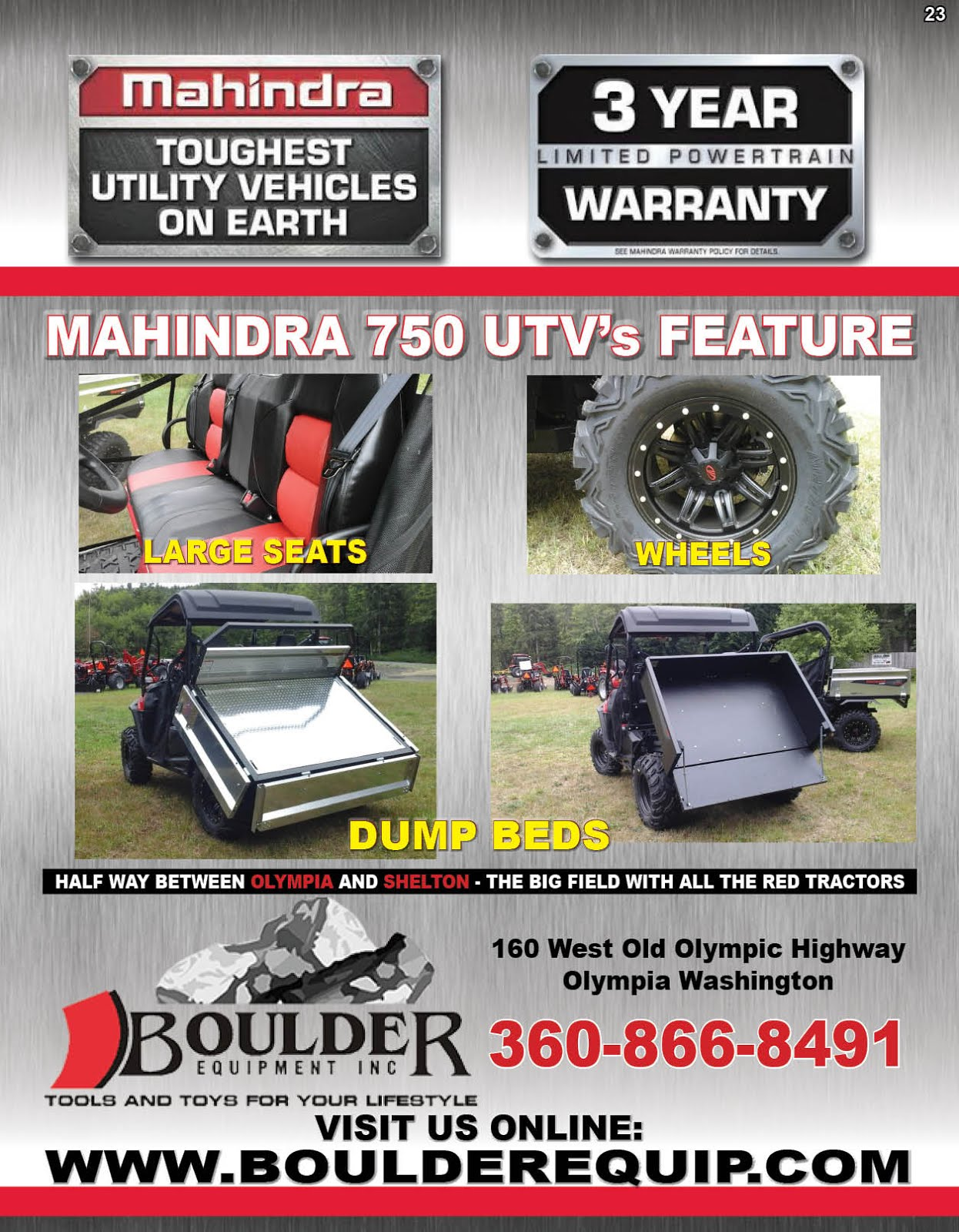 Boulder Equipments Mahindra 750 UTVs Sale!!