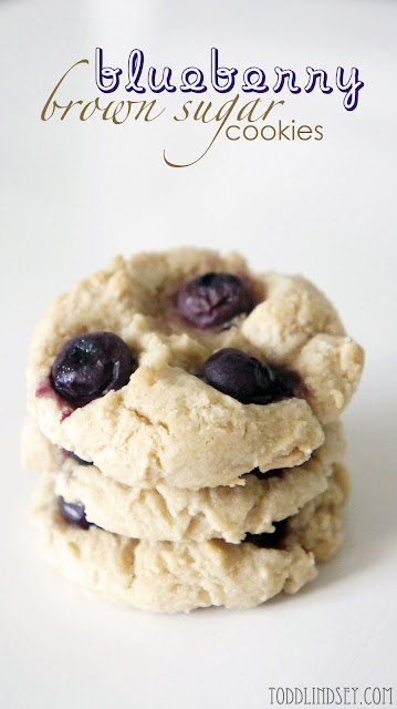 Blueberry Brown Sugar Cookies from Todd & Lindsey | Featured on Making the World Cuter for Beautiful Food Photography