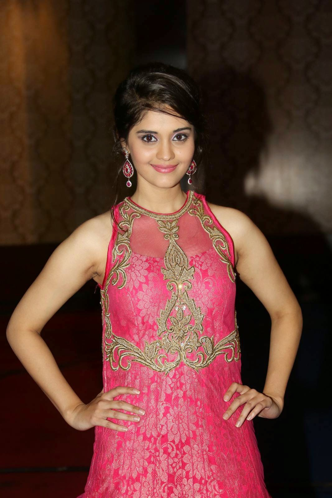 Actress Surabhi Latest Cute Hot Exclusive Pink Dress Spicy Photos Gallery At Beeruva Telugu Movie Audio Launch