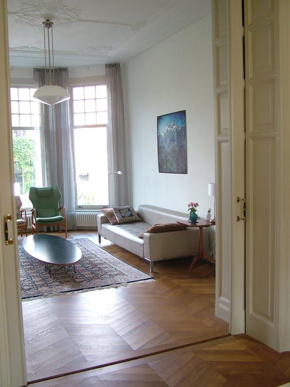 woonkamer gordijnen en foto