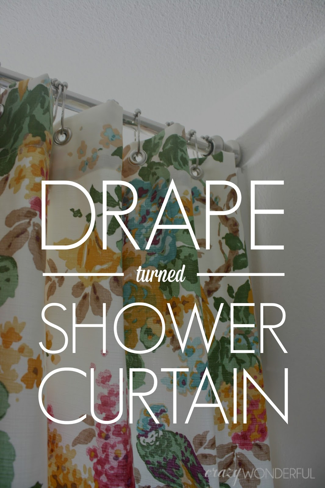 Marvelous How To Turn A Window Curtain Into A Shower Curtain
