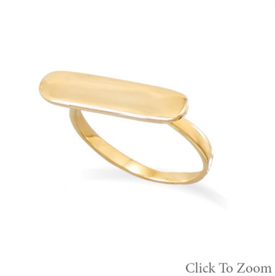 14K GOLD BAR RING