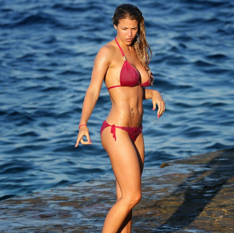 Gemma Atkinson revealed her impressive figure during a trip to Dominican Republic on Saturday,‭ ‬March‭ ‬15,‭ ‬2014.