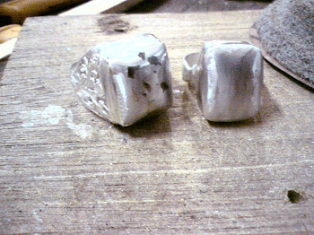 Cincin Gabungan Batu dan Besi