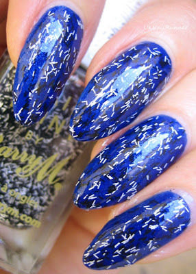 Contrary Polish Santorini with Barry M Confetti Licquorice
