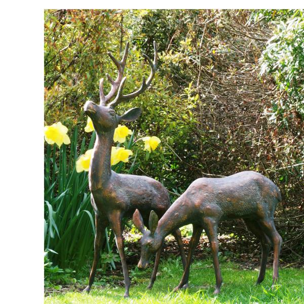 Metal Garden Deer Sculpture/Ornaments