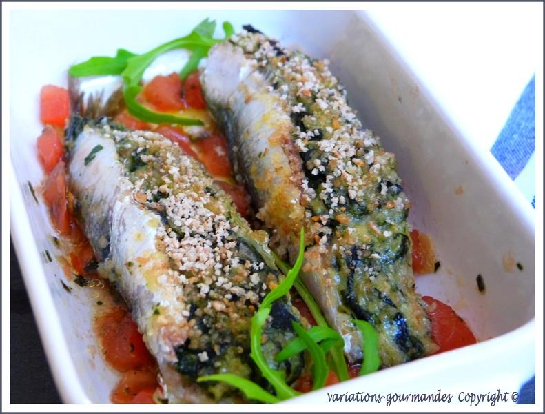Variations gourmandes les sardines farcies la ni oise - Sardines au four sans odeur ...
