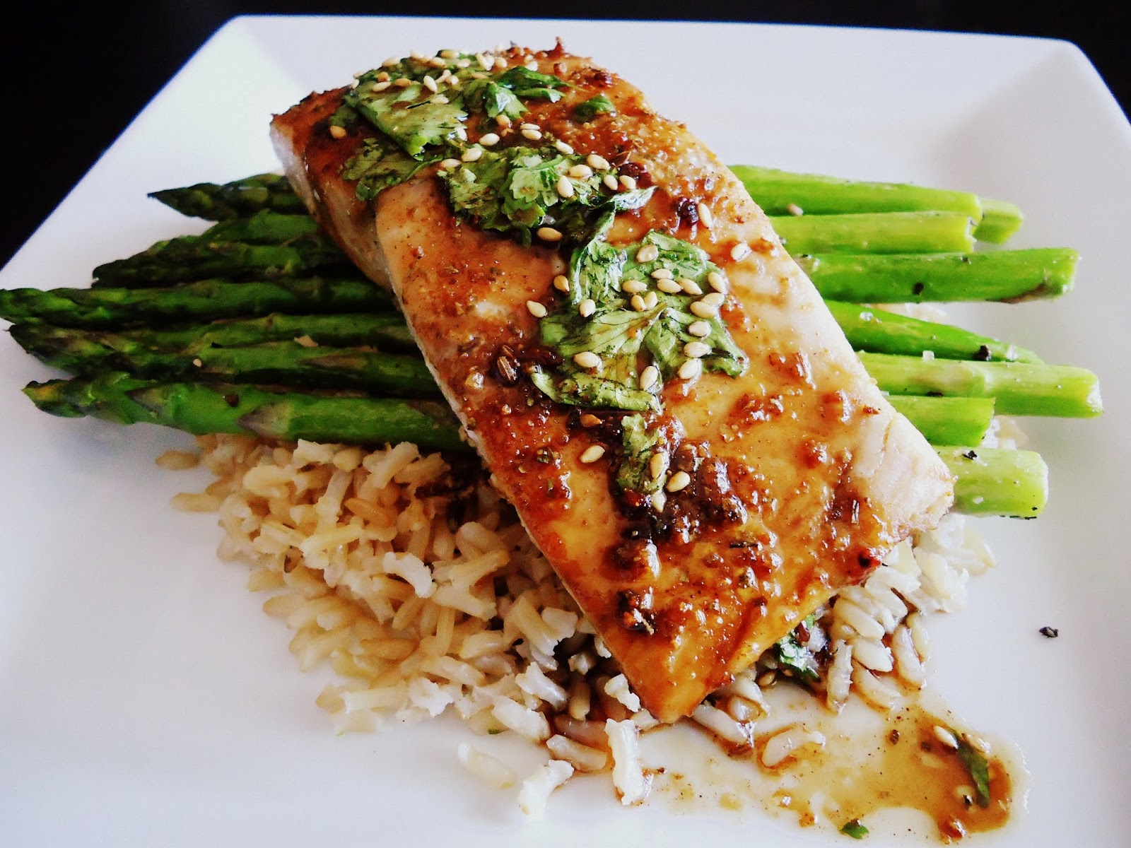 Foodie & Fabulous: Asian Glazed Sesame Salmon with ...