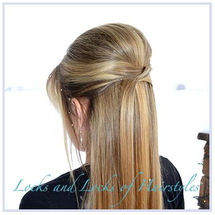 Прическа с длинными волосами и объемом на макушке