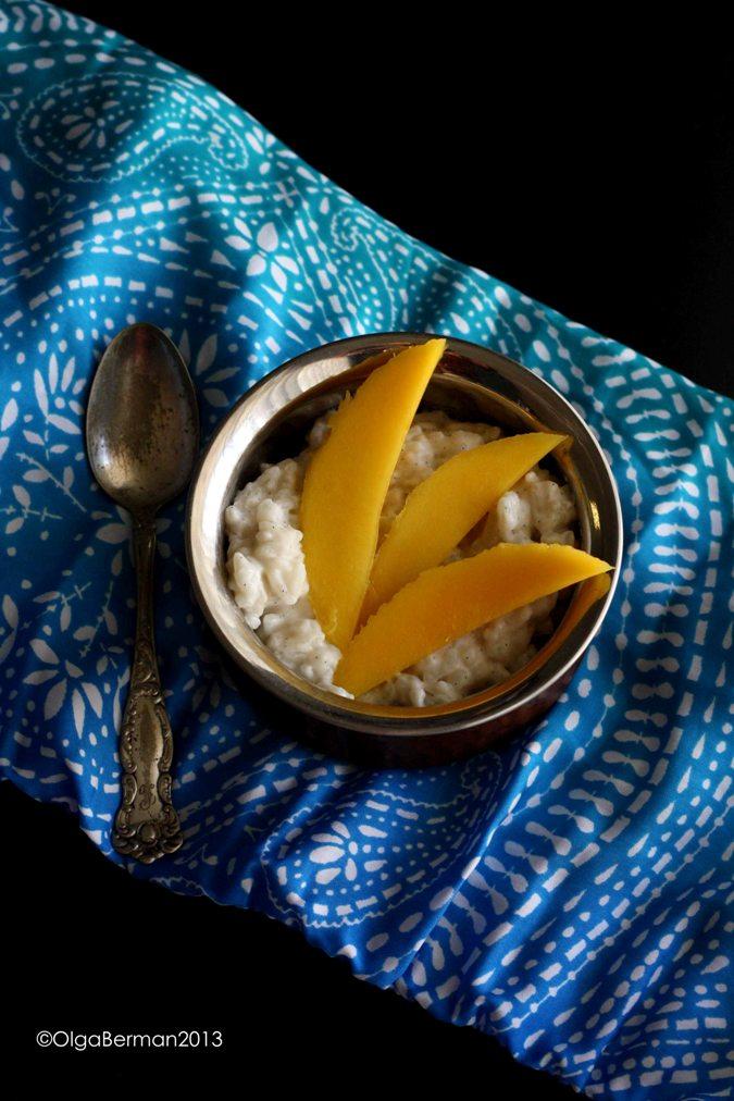 how to make mango rice pudding
