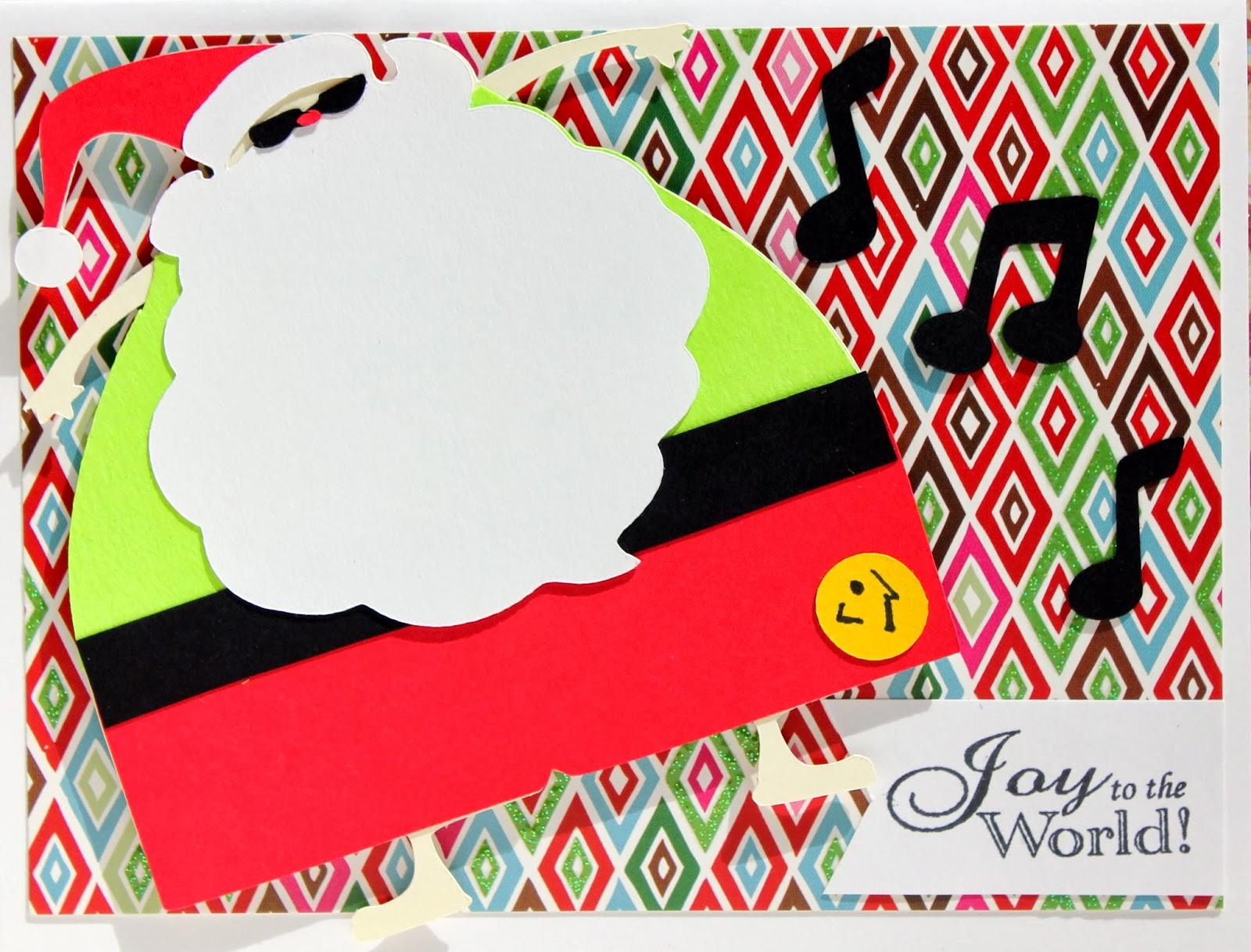 The Cropping Canuck: Zumba Santa Christmas card - day 7