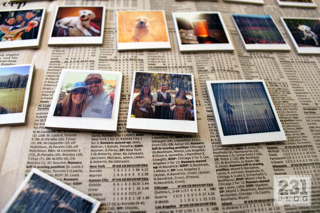 ModPodge Instagram Magnets