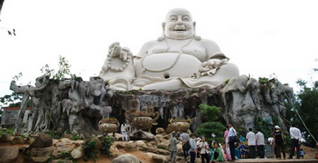 The Maitreya Buddha statue on Cam Mountain in An Giang Province