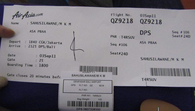 Airasia Air Ticket Asia Air E-ticket