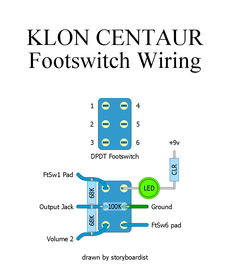 perf and pcb effects layouts klon centaur rh effectslayouts blogspot com SPST Footswitch Dpdt Footswitch Small Stone LED Indicator