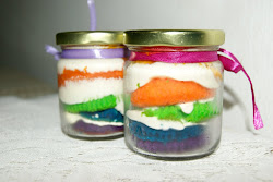 Rainbow Cake In The Jar