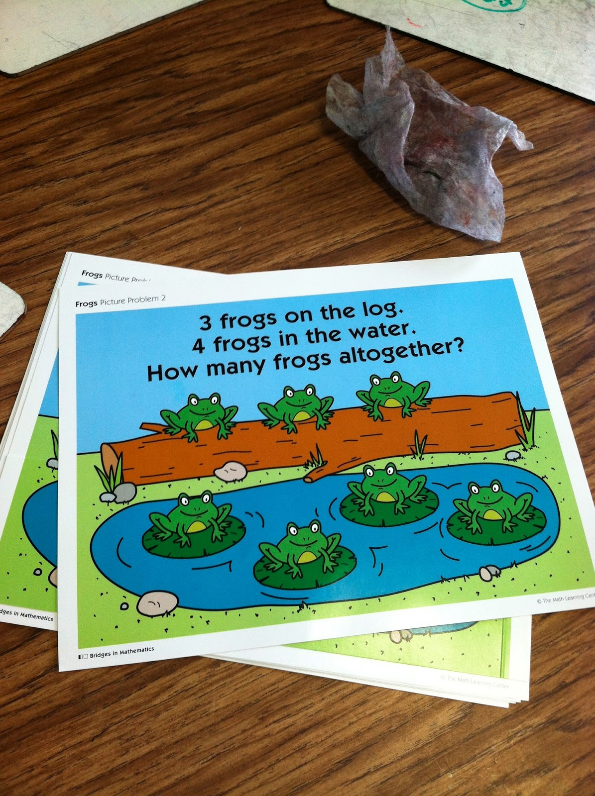 Worksheet First Grade Number Stories ms closters first grade news number stories last week kindergartners solved and then created their own frog students have been working on understanding think