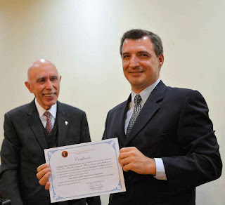 Dr. Adolpho Lindenberg, presidente do IPCO, e Prof. Ricardo Felício. Foto: Paulo Roberto Campos / ABIM