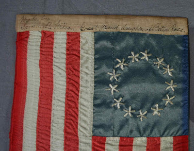 Betsy ross gift flag, conservation of historic flags, 13 star flag, flag conservator, textile